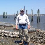 Doug Janiec in the field at a Mispillion River living shoreline project.