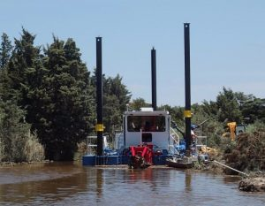 Dredge at Prime Hook National Wildlife Refuge