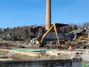 Demolition of buildings at the NVF Yorklyn Site