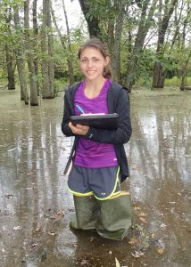 Samantha Stetzar, seasonal with the Wetland Monitoring Assessment Program